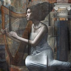 Artist Sergio Cerchi in his works managed to combine artistic images and geometric space. Italian Artist, Figure Painting, Art Music, Figurative Art, Art Images, New Art, Art History, Illusion, Geometry