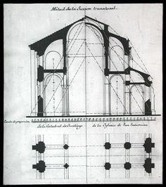 Historia del Arte: Románico: Planta y alzado de la Catedral de Santiago de Compostela