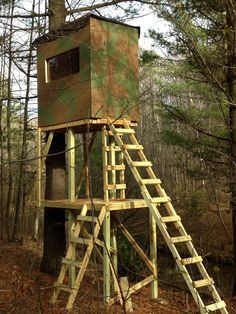 Diy how to build a deer stand read party shack diy for Ladder tree stand plans