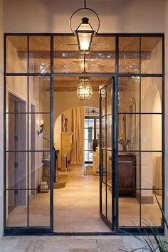 Steel frame doors...I am in love with these....instead of French doors. by ajct