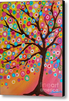 Mexican Tree of Life bar Bat Mitzvah Floral Flowers Painting PRINT by Pristine Turkus Tree Of Life Art, Tree Art, Mexican Paintings, Tree Paintings, Art Fantaisiste, Wine And Canvas, Art Populaire, Canvas Art, Canvas Prints