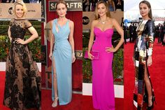 A lot happened at Saturday night's SAG Awards. Tina Fey and Amy Poehler proved once again that they're award shows' golden girls and Leonardo DiCaprio and Kate Winslet's showcased a lot of cute PDA. The wardrobe department didn't disappoint either. Like at the Critics' Choice Awards, shades of blue proved to be a popular colour choice during