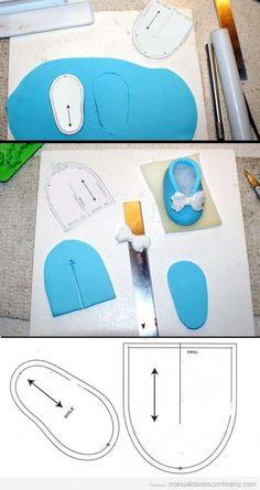 Manualidades en goma eva para bebés zapatito