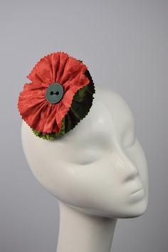 Cloth Rosette Hair Rosette Ethnic Hairclip Orange Batik Cloth Hair Flower Cloth Fascinator Ethnic Print Flower Button Flower