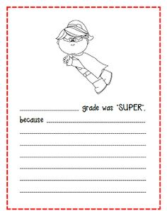 End of year writing activity Superhero Writing, Superhero Classroom Theme, School Classroom, Classroom Themes, School Plan, End Of School Year, School Holidays, End Of Year Activities, Writing Activities