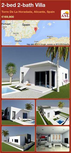 2-bed 2-bath Villa in Torre De La Horadada, Alicante, Spain ►€169,900 #PropertyForSaleInSpain