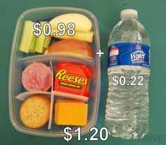 so smart.  kids love lunchables, right?  So make your own for much less with healthy foods included. :)