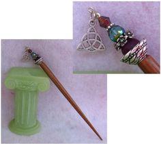 Silver Celtic Trinity Knot Beaded Wooden Hair Stick  http://cgi.ebay.com/ws/eBayISAPI.dll?ViewItem=160977864481