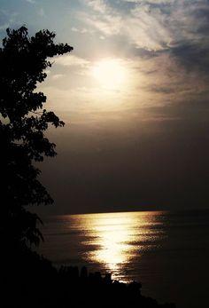 """Sunset on """"LAKE ERIE"""" at Lakewood,Ohio"""