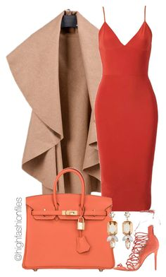 """Untitled #1893"" by highfashionfiles ❤ liked on Polyvore featuring Hermès, Schutz and R.J. Graziano"