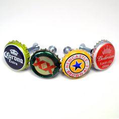 Recycled Bottle Cap Drawer Knob
