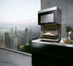 Siemens liftMatic - above counter oven that drops down