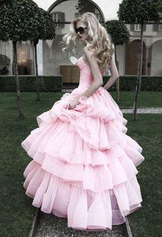 Atelier pink ruffled dress