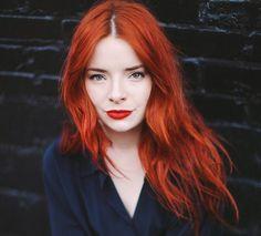 Kupfer Haarfarbe - intensiv, auffällig, Orange oder kupferrot