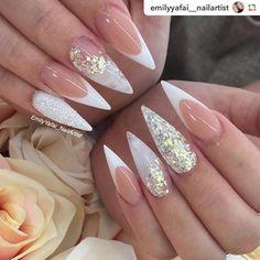 "865 Likes, 2 Comments - @weddingnails_inspiration on Instagram: ""by @haha_nails_:✨✨✨ #hahanails #nudenails #longnails #blingnails #swarovskinails #nailart…"""