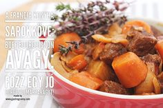Boeuf bourguignon, avagy a világ legjobb marharaguja Pot Roast, Sweet Potato, Potatoes, Vegetables, Ethnic Recipes, Food, Beef Bourguignon, Carne Asada, Roast Beef