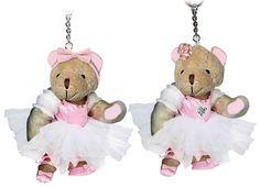 PORTACHIAVI BALLET BEAR POIS 4 VERSIONI. Porta chiave orsetto in peluche con vestito da ballerina in 4 varianti.