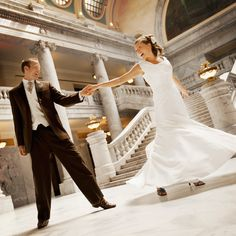 Brides: How One Bride and Groom Got Over the First-Dance Jitters