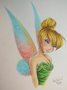 Tinkerbell by Max Stephen Tinkerbell Movies, Tinkerbell Disney, Tinkerbell Fairies, Disney Fairies, Disney Love, Disney Magic, Disney Art, Tinker Bell Tattoo, Mickey Mouse Cartoon