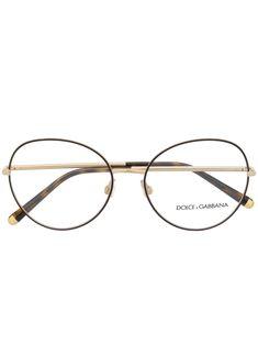 Dolce & Gabbana, Dolce And Gabbana Eyewear, Round Frame, Wayfarer, Glasses, Gold, Character Description, Decal, Arms