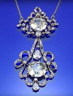 DIAMOND NECKLACE, CIRCA 1900, IN THE GARLAND STYLE