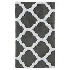 threshold fretwork bath rug gray 20x34 for the half bath downstairs - Target Bathroom Rugs