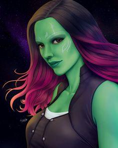 @15atriasa on Instagram: Gamora on full colored version.