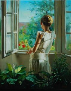 Women paintings by Laszlo Gulyas