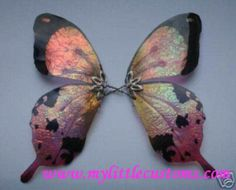 FREE PDF Fairy Wing Tutorials | My Little Customs <<  learn how to make iridescent acetate / transparency sheet one of a kind fairy wings