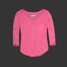 Abercrombie pink shirt