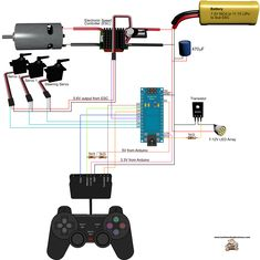 Arduino Robot Car HC05 Bluetooth Control Circuit