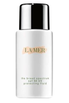 """<p>""""Every time a jar of La Mer has come into my life, I am regretfully reminded that sometimes, luxury really IS better. But one splurge I do make for myself is keeping a bottle of their sunscreen in my arsenal. It doesn't get trotted out for everyday use, but when sun and style have to meet (no one wants to be the shiny bridesmaid in a July wedding, for example) there's nothing that provides better protection as invisibly as this little bottle""""-<strong><a…"""