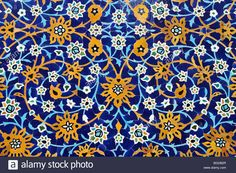 Stock Photo - Colorful faience tiles at a mosque in Ardabil, Iran, Persia, Asia Tile Art, Mosaic Art, Tiles, Islamic Art Pattern, Pattern Art, Islamic Decor, Persian Pattern, Embroidery Works, Islamic Art Calligraphy