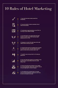 Ten Rules of Hotel Marketing Infographic