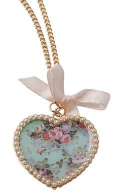 Bijou Brigitte  Necklace - Flower Heart