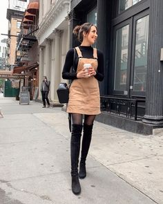 36 Perfect Winter Outfit Ideas With Skirts Keep Warm 15 Trendy Autumn Street Style Outfits For This Year - fall outfits Winter Outfits For Teen Girls, Simple Fall Outfits, Stylish Winter Outfits, Winter Dress Outfits, Winter Fashion Outfits, Cute Casual Outfits, Sweater Outfits, Autumn Fashion, Casual Winter