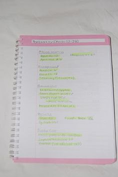 Homework in its own notebook