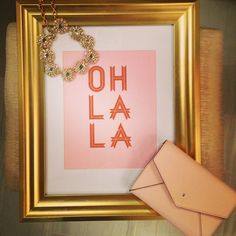 {Glam, Gold & Glitter} // Frame Spray Painted Gold= Easy DIY fix