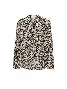 EQUIPMENT Sophie Black/Gold Metallic Leopard | Long Sleeve Shirt
