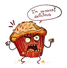 cupcake cartoon images | Super Punch: Muffin monster (link roundup)
