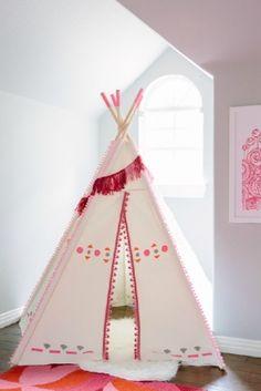 Inspiração de tendas infantis para decorar o quarto das crianças e deixá-lo também mais divertido! #cabana #tenda #oca #kid #children #decoracao #decoration #kidsroom #creativity #criancas #quartoinfantil #inspiracao #inspiration #babyroom