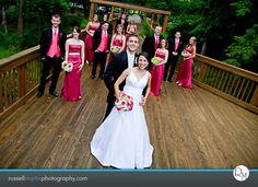 pink n black wedding party