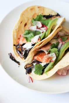 Easy smoked trout tacos with ginger cream + sautéed cabbage | POP KITCHEN