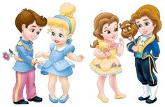 Baby Disney Princesses. I had not seen the princes how cute