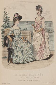 Fashion Plates and Ephemera! Style Vintage, Mode Vintage, Vintage Style Outfits, 1890s Fashion, Victorian Fashion, Vintage Fashion, Historical Costume, Historical Clothing, Mode Masculine