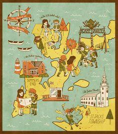 The Island of New Penzance - Ann Macarayan Illustration