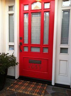 i love passing by this preppy door entrance during my neighborhood walk in noe valley, sf.