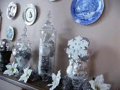 elegant christmas apothecary jars