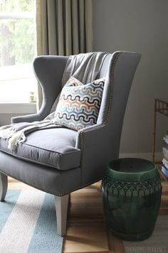 Thurston Wing Back Chair from @ballarddesigns