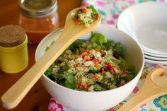 Quinoa and cranberry salad with tomato vinaigrette #MeatlessMonday